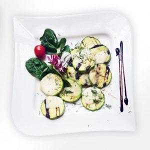 Grilled zucchini with mozzarella (250 g)