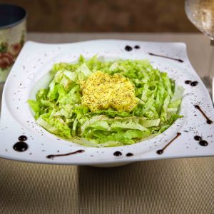 Green lettuce with lemon sauce salad (200 g)