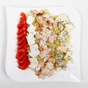 Chicken salad with feta and gorgonzola
