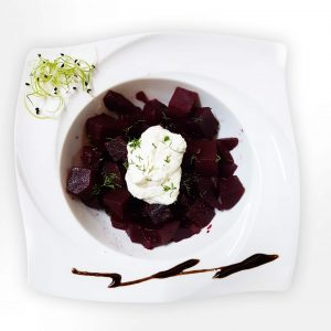 Red beet with radish and sour cream salad (200 g)