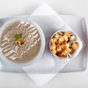 Supa crema de ciuperci cu crutoane (300 ml/ 100g)