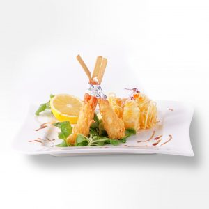 Shrimp skewers in coconut panada (200 g)