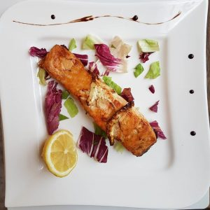 Salmon fillet on grill (250 g)