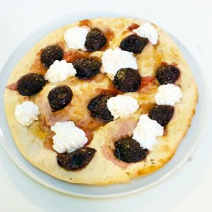 Pizza with Plums